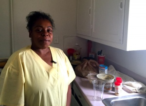 Despite working seven days a week, Kimberly Jones participates in SNAP to make ends meet. Photo Credit: MARISA DEMARCO / KUNM